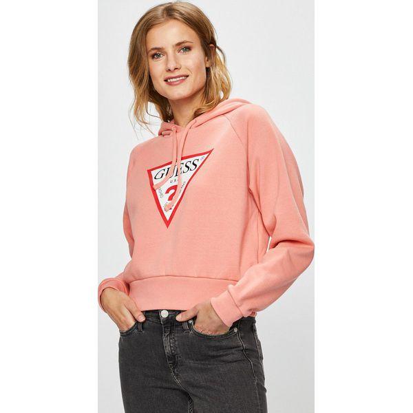 56a44c7bad5d7 Guess Jeans - Bluza - Bluzy z nadrukiem damskie marki Guess Jeans. Za  329.90 zł. - Bluzy z nadrukiem damskie - Bluzy damskie - Odzież damska -  Kobieta ...