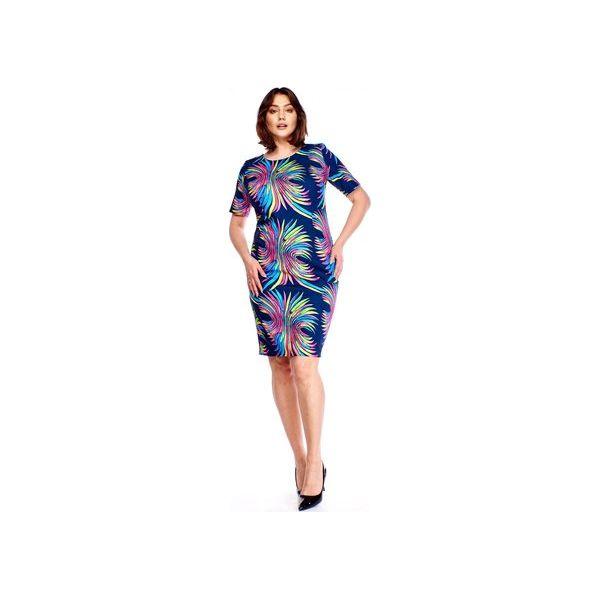 2d9d535a Sukienka w kolorowe wzory