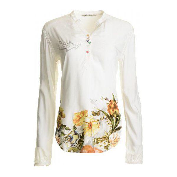 529a93b3720d Desigual Bluzka Damska Brigitte Xs Biały - Białe bluzki damskie ...