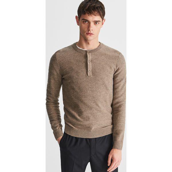 59266e1a73e06 Bawełniany sweter - Beżowy - Swetry męskie marki Reserved. Za 99.99 ...