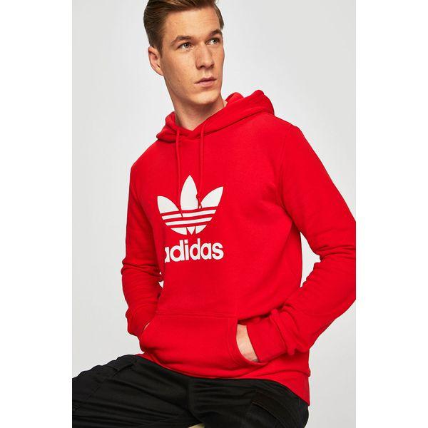 Bluza adidas męska bordowa Bluzy i swetry męskie