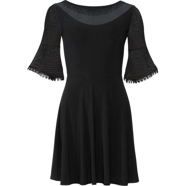 8c24855b14 Sukienka z siatkowymi wstawkami bonprix czarny - Sukienki damskie ...