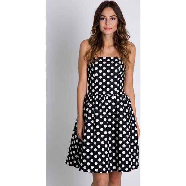 fe926df7a6 Czarno-biała sukienka bez ramiączek BIALCON - Sukienki damskie marki ...