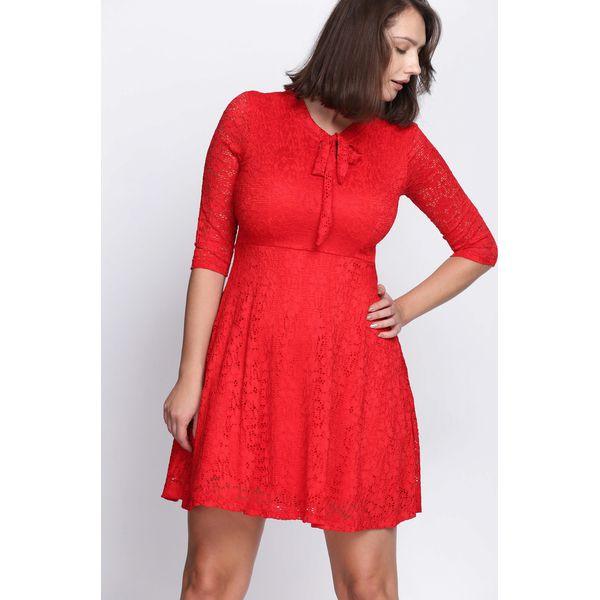 e5b42cb044 Czerwona Sukienka Give Me Love - Sukienki damskie marki Born2be. Za ...