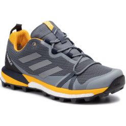 Szare buty trekkingowe męskie Adidas, kolekcja lato 2019