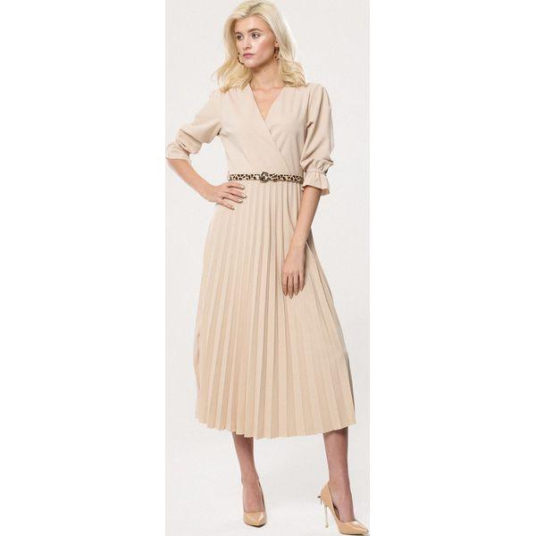 1f522605 Beżowa Sukienka Willowy