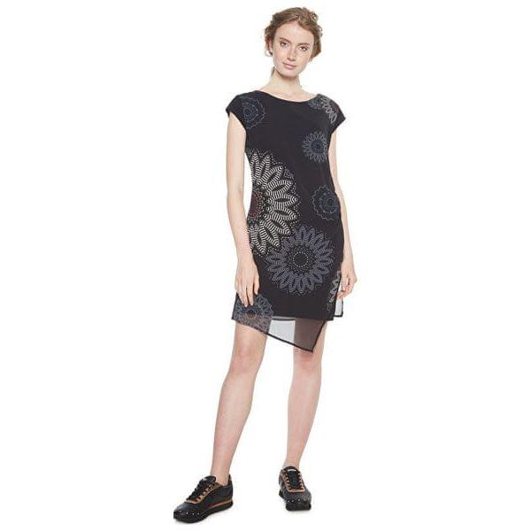 0814079f7d Desigual Sukienka Dla Kobiet Sandra Negro 18Wwvw33 2000 (Rozmiar 44 ...