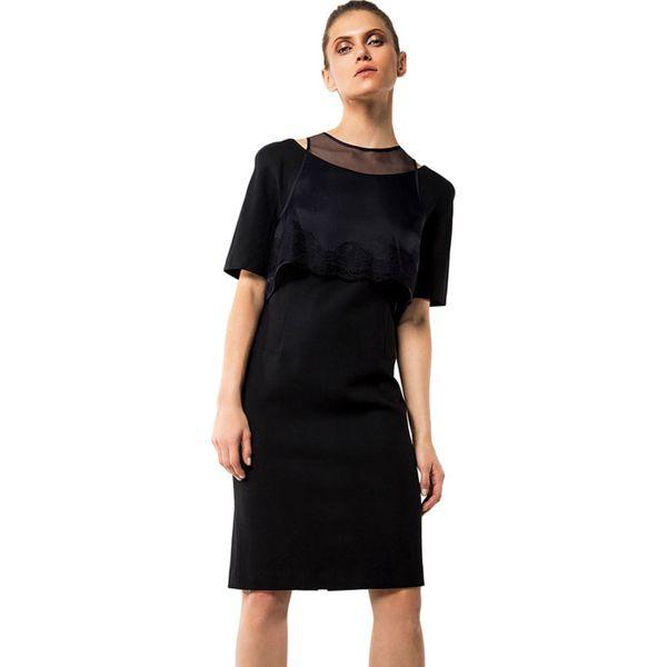 7f623cbbe8 Sukienka w kolorze czarnym - Czarne sukienki damskie marki Deni Cler ...