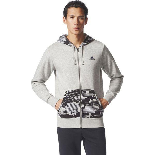 361c60413 Adidas Bluza męska ESS AOP FZ B szara r. S (BQ9633) - Bluzy bez ...