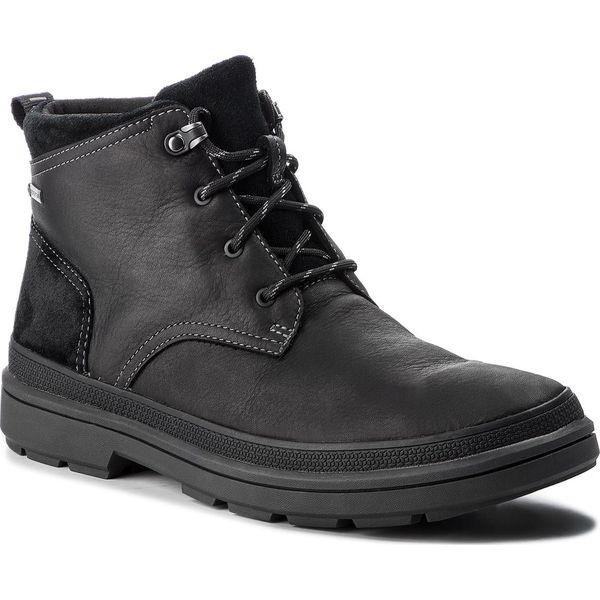 Kozaki CLARKS RushwayMid Gtx GORE TEX 261378587 Blk Tumbled Leather