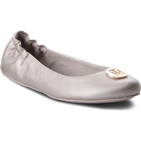 71508c8dd5b0f Baleriny TOMMY HILFIGER - Pearlized Leather Ballerina FW0FW03412 ...
