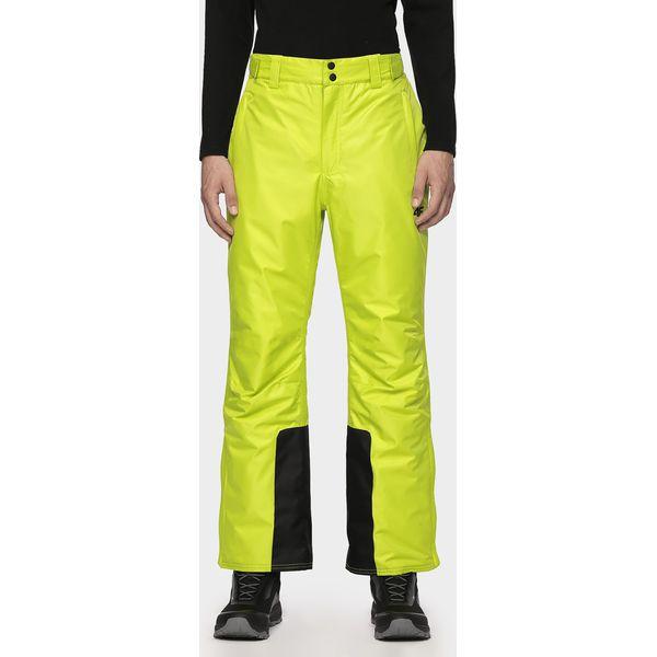 Spodnie narciarskie męskie SPMN001 soczysta zieleń