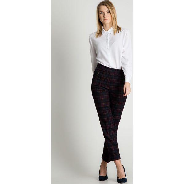 f0f830483570ac Spodnie w kratę w kant z mankietami BIALCON - Spodnie materiałowe ...