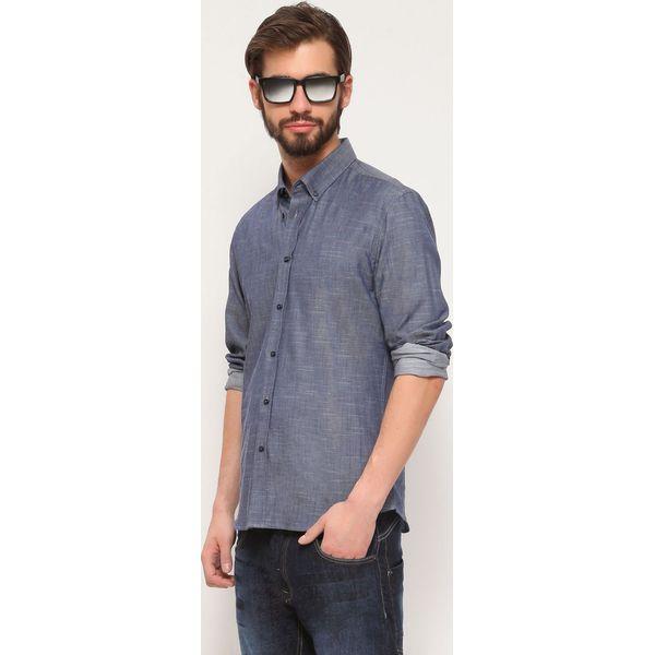 Koszula długi rękaw męska Szare koszule męskie TOP SECRET  i89Oi