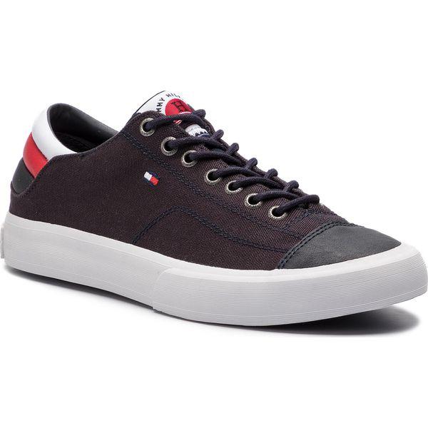 1a6617e6a8c18 Tenisówki TOMMY HILFIGER - Long Lace Sneaker FM0FM01947 Midnight 403 ...