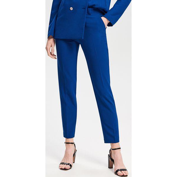 706534a9576d9f Eleganckie spodnie - Niebieski - Spodnie materiałowe damskie ...