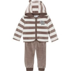 Spodnie niemowlęce z dżerseju (2 pary), bawełna organiczna bonprix naturalny melanż szary w gwiazdy