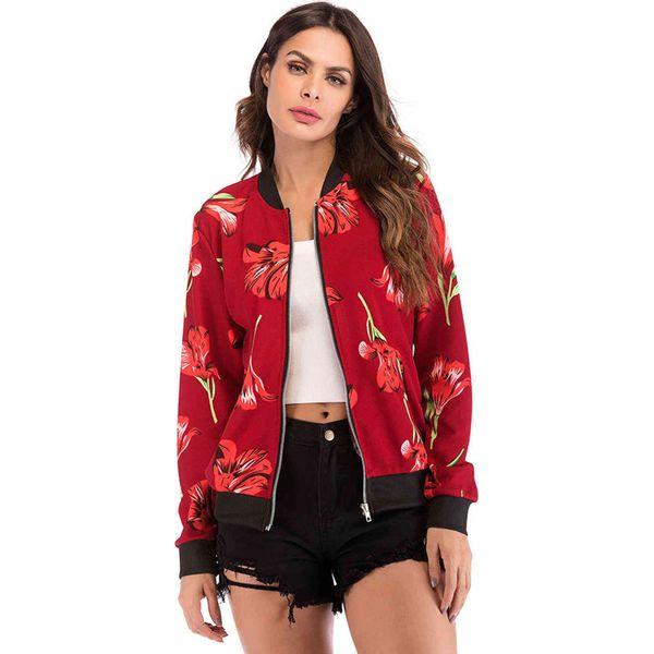 0a11cf86c6d3 Bluza w kolorze czerwonym ze wzorem - Bluzy bez kaptura damskie marki Sarah  Woodz. W wyprzedaży za 129.95 zł. - Bluzy bez kaptura damskie - Bluzy  damskie ...