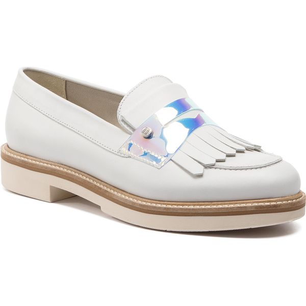 4007fed136ad5 Półbuty TOMMY HILFIGER - Iridescent Detail Loafer FW0FW03930 Whisper ...