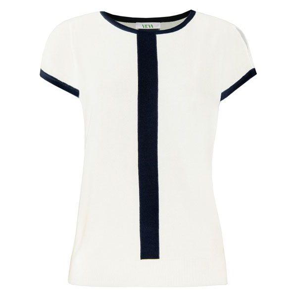 Aza bluzka damska dzianinowa kolor: biały