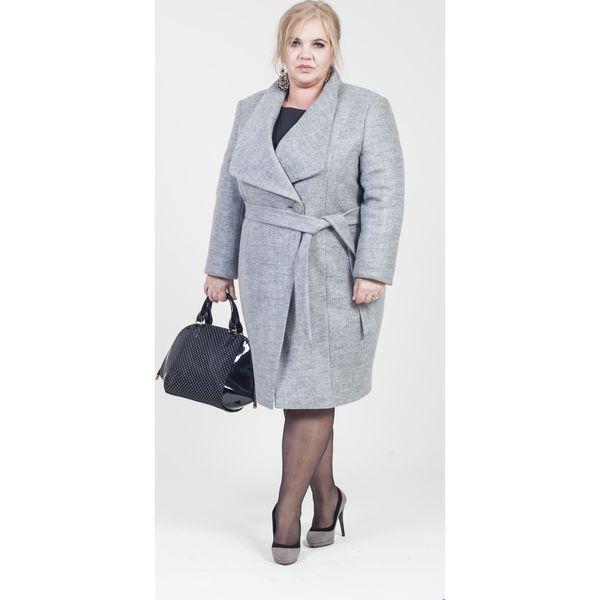 44112e1fa3 Elegancki płaszcz MIRA duże rozmiary dla puszystych - Płaszcze ...