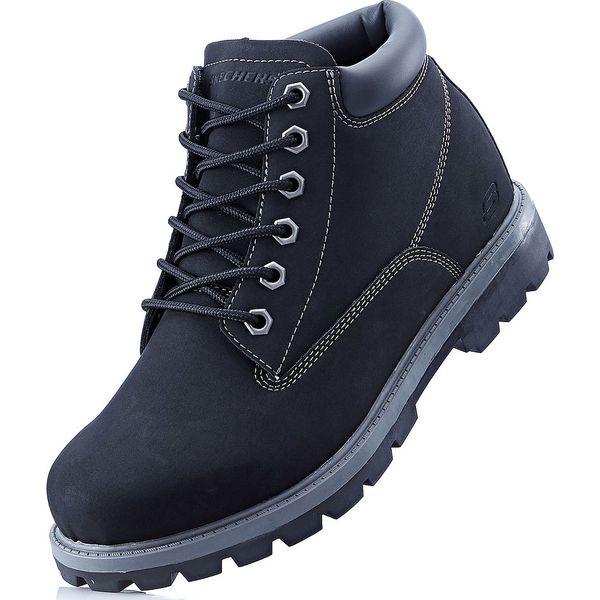 74f69bff355ab Kozaki sznurowane Sneakers bonprix czarny - Buty zimowe męskie marki ...