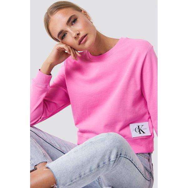 3c5552a12948c Calvin Klein Bluza Harrisi True Icon Crew Neck - Pink - Bluzy bez kaptura damskie  marki CALVIN KLEIN. Za 364.95 zł. - Bluzy bez kaptura damskie - Bluzy ...