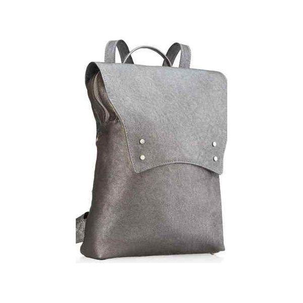 653a57f4a8 Plecak skórzany damski uszyty ręcznie z włoskiej licowej skóry szary ...