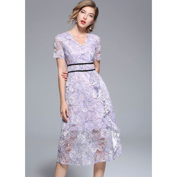 73f3d40c18 Sukienka ze wzorem - Szare sukienki damskie marki Kaimilan