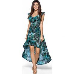 4f884c53d0 Elegancka Maxi Wzorzysta Sukienka w Typu Hiszpanka. Zielone sukienki  damskie marki Molly.pl