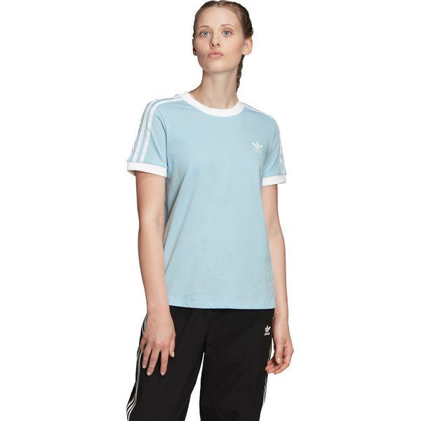 adidas Originals 3 Stripes Koszulka Niebieski
