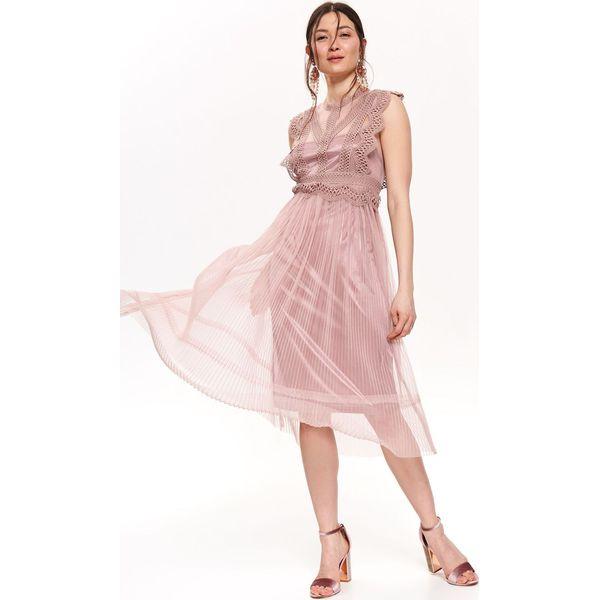 cafebb97dfb91f Różowe sukienki damskie midi - Kolekcja lato 2019 - Sklep Super Express