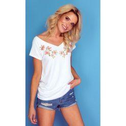 c967d84feacbc0 Bluzka t-shirt flowers k127. Bluzki damskie marki Knitis. W wyprzedaży za  55.00