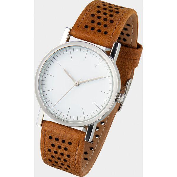 2a912c09f8e3e6 Zegarek na rękę na pasku w perforowany wzór bonprix jasnobrązowy ...
