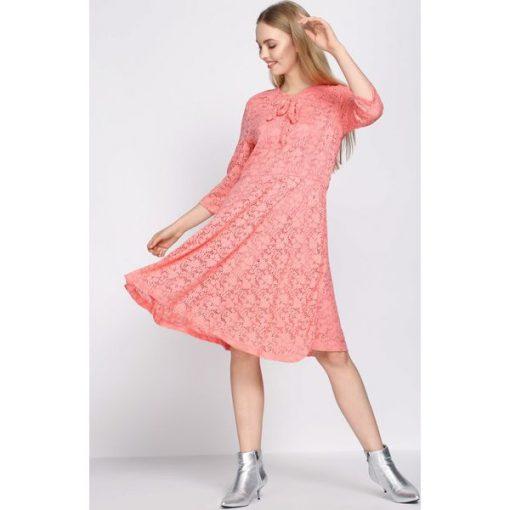 8fa61f7d94b8 Koralowa Sukienka Give Me Love - Sukienki damskie marki Born2be. Za ...