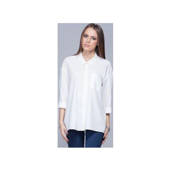 Koszule Koszula Damskie H010 Oversize Luźna Marki Ecru HarmonyZa KFJl1c