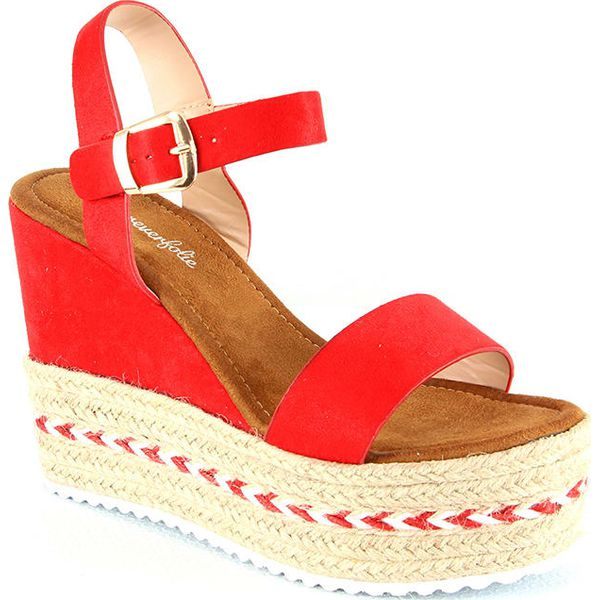 86b0b545cbde5 Sandały w kolorze czerwonym - Sandały damskie marki Forever Folie. W ...