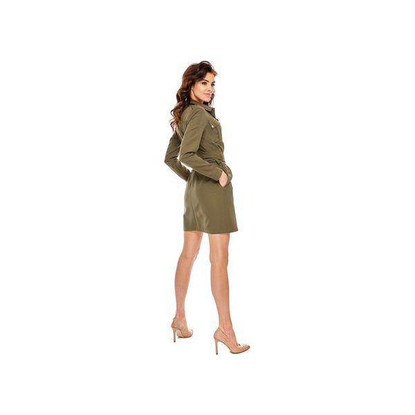 fcdebd7008 Sukienka Militarna Khaki BY OOH LA LA - Sukienki damskie marki Ooh la la.  Za 189.00 zł. - Sukienki damskie - Odzież damska - Kobieta - Sklep Super  Express