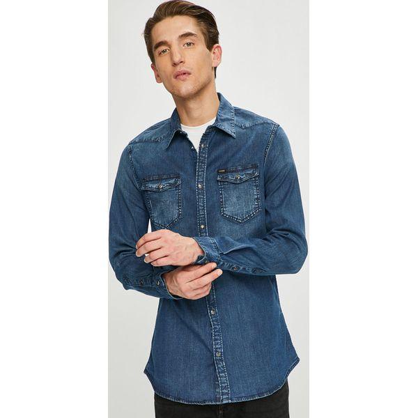 d80608c3f8229e Guess Jeans - Koszula - Niebieskie koszule męskie Guess Jeans, l, z ...