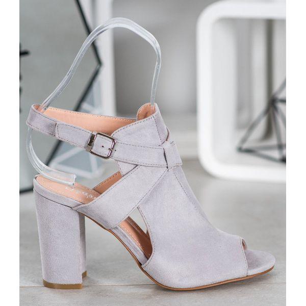Seastar Eleganckie Szare Sandały | Sandały, Buty i Szary