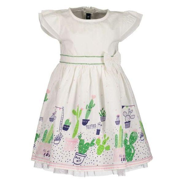0f100b8ef5 Blue Seven Sukienka Dziewczęca Z Nadrukiem 62 Biała - Sukienki ...