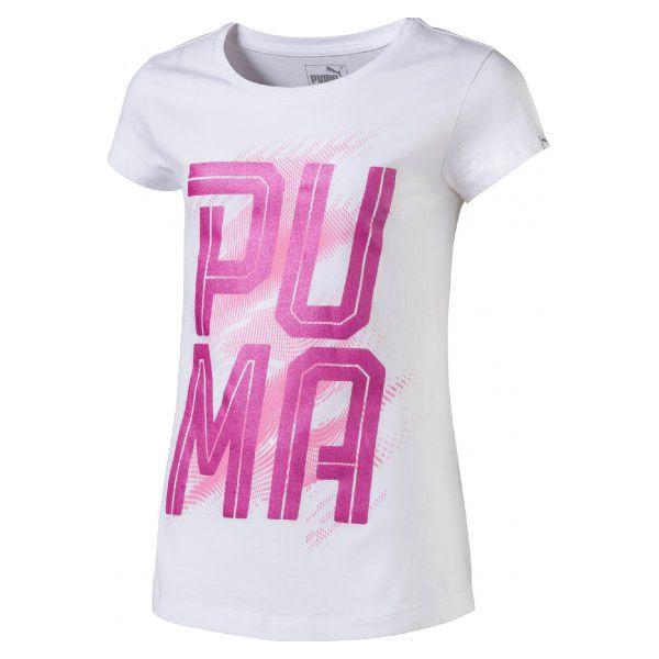 13deca8c9b Puma Koszulka Font Tee Girls Puma White 140 - Topy sportowe damskie ...