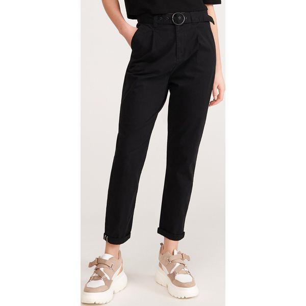 Spodnie chino z paskiem Czarny