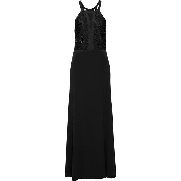 8ca889432d Sukienka wieczorowa z koronką i cekinami bonprix czarny - Sukienki ...