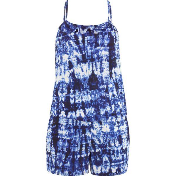 b61247a3ac4f74 Kombinezon kąpielowy bonprix batikowy niebieski - biały ...