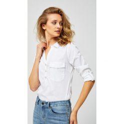 Koszula z metalicznym nadrukiem Białe koszule damskie  nanCP