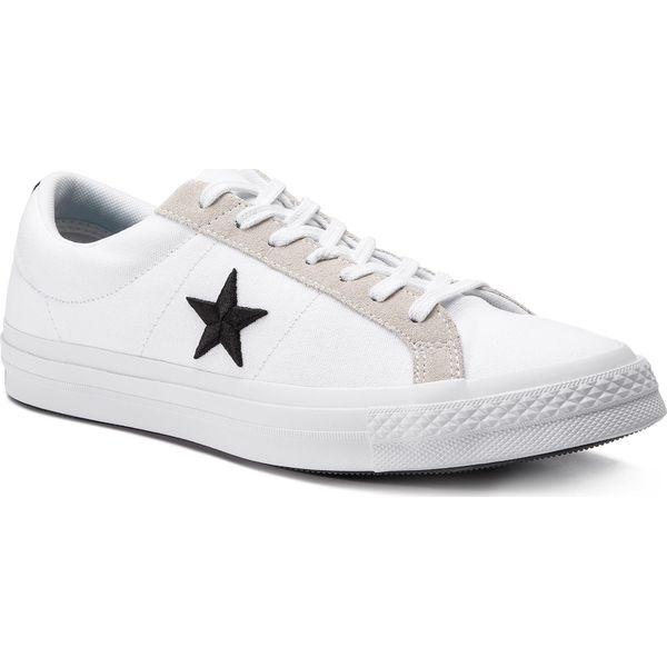 c5670fdf66e40 Tenisówki CONVERSE - One Star Ox 160601C White/Black/Black - Trampki ...