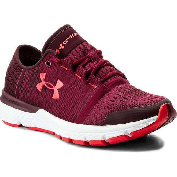 Buty sportowe do ćwiczeń damskie Under Armour W Charged Rogue Twist bordowe 3022686 500