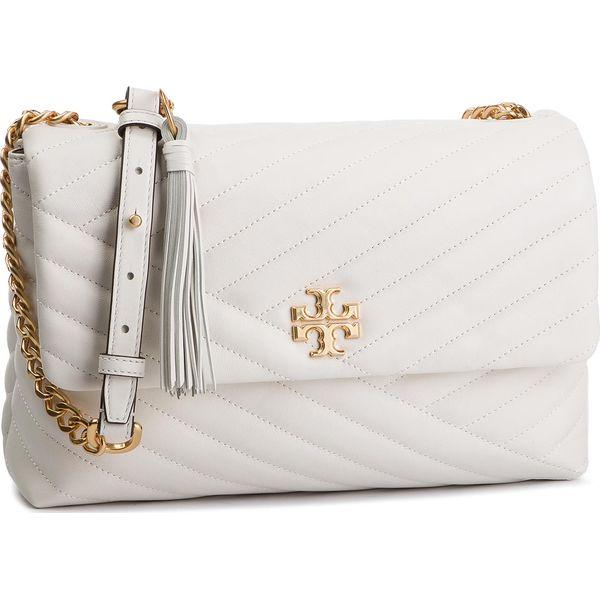 50169ee3d40a Torebka TORY BURCH - Kira Chevron Flap Shoulder Bag 53102 New Ivory ...