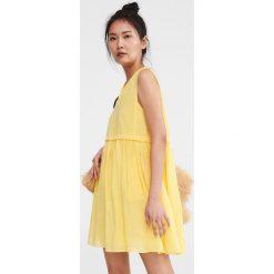 4bb5ed4d26 Gładka sukienka mini - Żółty. Sukienki damskie marki Reserved. Za 139.99 zł.